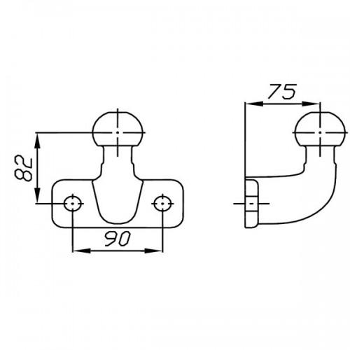 Automobilio kablys Auto Hak PK2-1